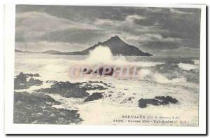 Britain Old Postcard Heavy seas Val Andre