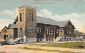 F63/ Newcomerstown Ohio Postcard c1910 Lutheran Church Building