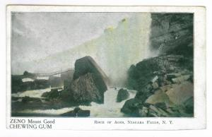 Rock of Ages, Niagara Falls, New York, Undivided back ZENO GUM AD Postcard