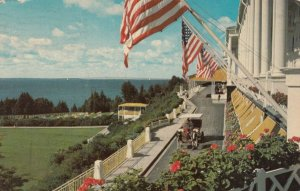 MACKINAC ISLAND , Michigan , 1968; The Grand Hotel, view from porch