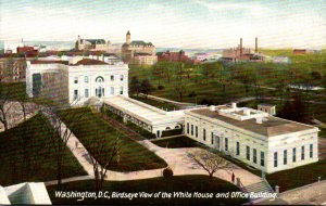 Washington D C Birds Eye View Of The White House and Office Building