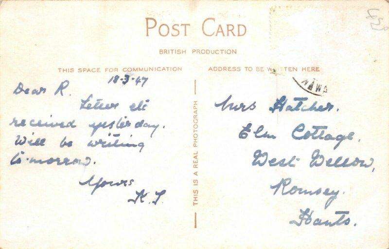 Vintage 1947 RP Postcard, The Grammar School of Queen Elizabeth Wakefield 57W