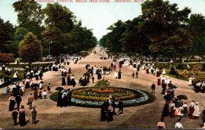 Michigan Detroit Belle Isle Park Central Avenue 1907