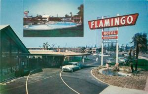 Autos Flamingo Hotel Route 66 Santa Anita California Petley Postcard 11724