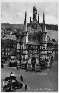 Wernigerode Harz Rathaus Town Hall Vintage Cars Postcard