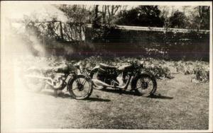 Old Motorcycles - Real Photo Postcard