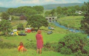 Postbridge Dartmoor 1970s Caravans & Ornings Postcard