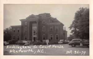 Wentworth North Carolina Rockingham Courthouse Real Photo Antique PC J44163