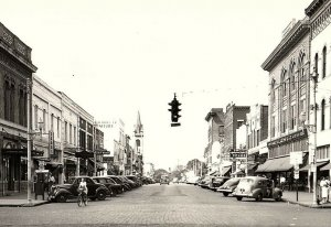 C.1910 RPPC Downtown Cars Signs Main St. Valdosta, GA Postcard P134