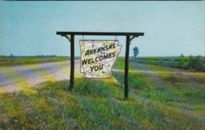 Arkansas Map Welcome Sign