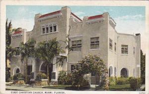 Florida Miami First Christian Church 1928