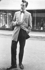 Teddy Boy Edwardian style of dress, hooligan lad 1954 Nostalgia Reprint
