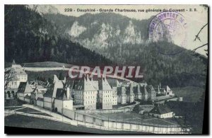Old Postcard Dauphine Grande Chartreuse general view of the Convent