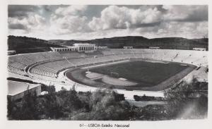 Lisboa Stadium Portugal Real Photo Old Mint Postcard