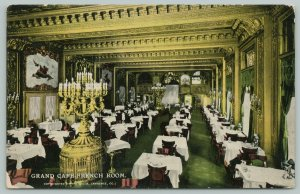 Chicago~Colossal Candelabras Instead of Chandeliers~Grand Cafe French Room c1910