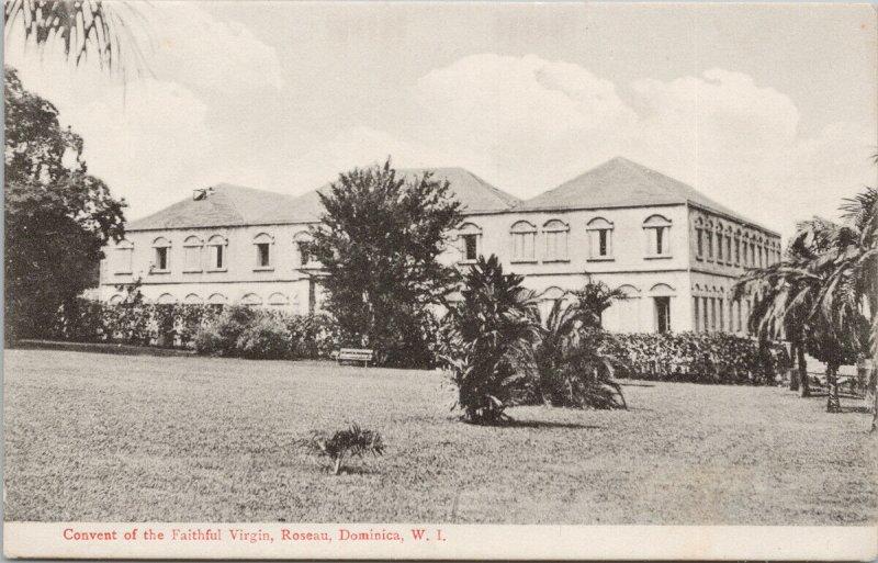 Convent of The Faithful Virgin Roseau Dominica WI Unused Geo Tudor Postcard F51