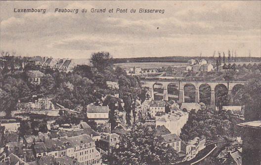 LUXEMBOURG, Faubourg du Grund et Pont du Bisserweg, 00-10s