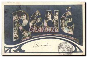 Old Postcard Fantasy Rene Surname