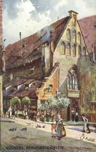 germany, NÜRNBERG, Bratwurstglöcklein (1910s) Raphael Tuck Oilette II - 612B