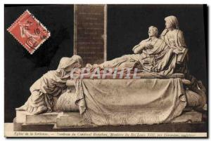 Old Postcard Church Paris Sorbonne Cardinal Richelieu Minister Tomb of King L...