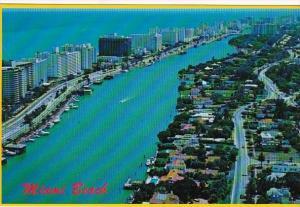 Florida Miami Beach Aerial View Looking South