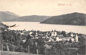 Millstatt am See~Carthinia Austria~Birdseye Panorama~1910 B&W Postcard