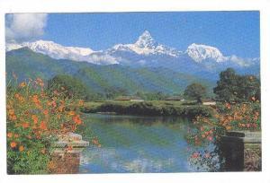 Mts; Phewa Tal & Machhapuchhare , NEPAL , 40-60s