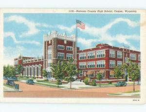Linen HIGH SCHOOL SCENE Casper Wyoming WY E2188@