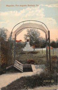 LPS92 Sunbury Pennsylvania Fort Augusta Magazine Vintage Postcard