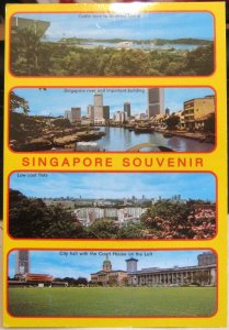 Singapore Souvenir Cable Cars River City hall - unposted