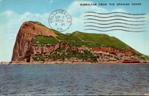 Gibraltar From The Spanish Coast 1959