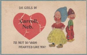 Pennant Series De Girls Iss Not So Varm In Carroll Nebraska 1913
