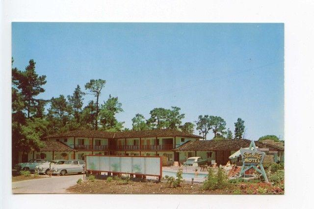 Monterey CA Starlite Motel Old Cars Postcard