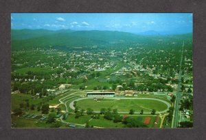 VT Aerial Race Track Horse Racing County Fair Rutland Vermont Postcard PC