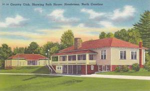 Country Club, Showing Bath House, Henderson, North Carolina, 1930-1940s