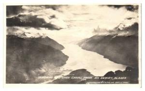 RPPC Skagway and Lynn Canal from Mt. Dewey, Alaska Real Photo Postcard *5K4