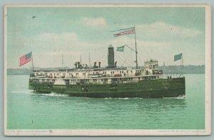 Ships~Mackinac City Steamer~Built 1893~Detroit Pub Co~11710~Postcard