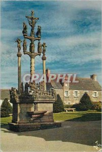 Postcard Modern Saint Thegonnec (Finistere) Brittany Calvary Colors in 1610 t...
