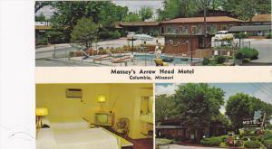 3-Views, Massey's Arrow Head Motel, Swimming Pool, Columbia, Missouri, 1940-1...