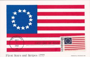 USA : First Stars & Stripes Flag & Stamp , 1968