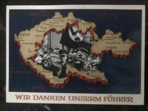 1938 Stuttgart Germany picture Postcard cover We thank our Fuhrer