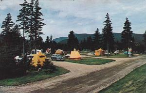 Ground View of Camping Grounds at Ingonish, Cape Breton, Nova Scotia, Canada,...