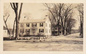 Maine Kennebunkport Residential View Corner Of Main Street Real Photo