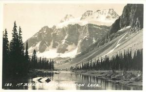 Mt Bident and Consolation Lake Alberta AB Canada Real Photo