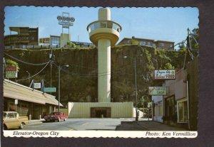 OR Oregon City Elevator Jim's Coffee Shop Natural Food Store Postcard
