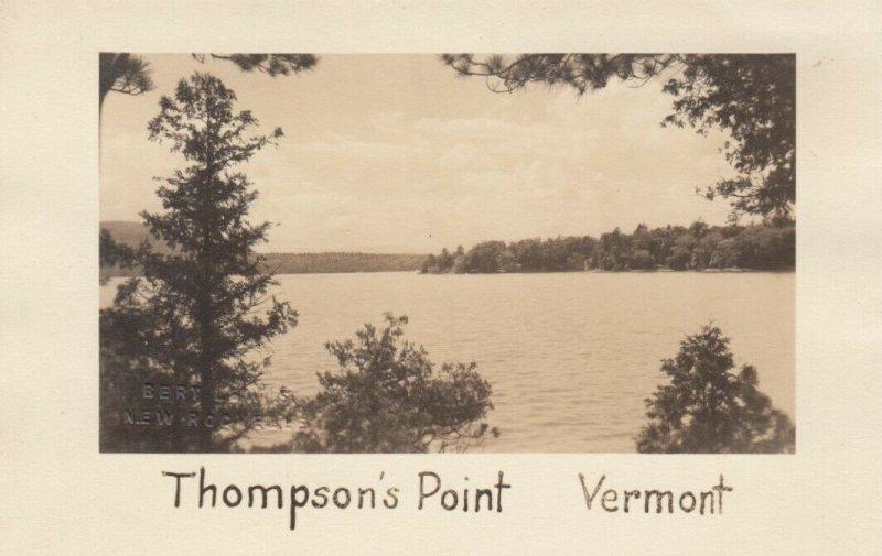 RP: THOMPSON'S POINT , Vermont , 1930-40s