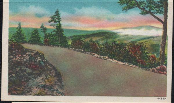 Virginia colour PC Scene on Blue Ridge Parkway unused