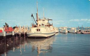 Tangier Island Virginia Harbor Boat Waterfront Vintage Postcard K54519