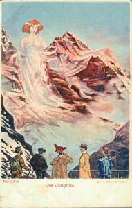 Switzerland Die Jungfrau No. 2319 Face Postcard 01.85
