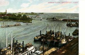 CT - Bridgeport. Harbor Scene